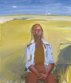 Artwork by Dana Schutz, Frank in the Desert, Made of Oil on Canvas