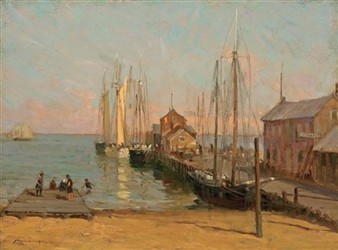 Old Central Wharf By Frederick J. Mulhaupt