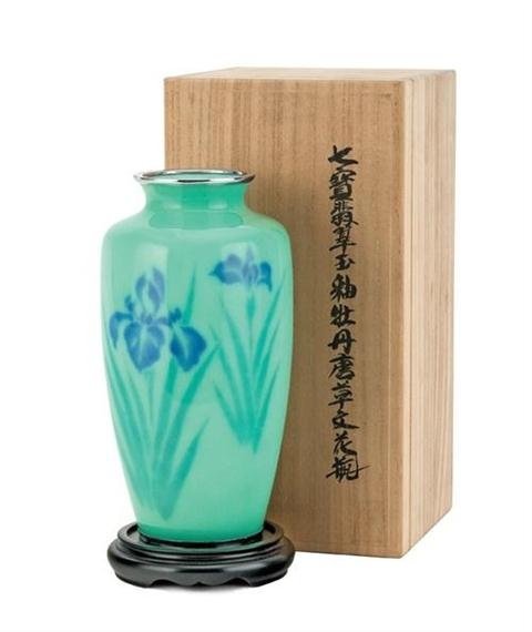 Jubei Ando An Ovoid Wireless Cloisonne Vase By Ando Jubei Mutualart