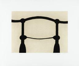 Artwork by Martin Puryear, SHOULDERS (STATE 2), Made of Softground and drypoint etching with Gampi and chine collé