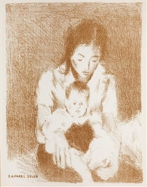 Raphael Soyer, Mother and Child