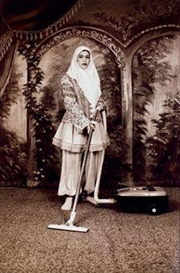Artwork by Shadi Ghadirian, Sans titre de la série Qajar, Made of Sepia print photograph