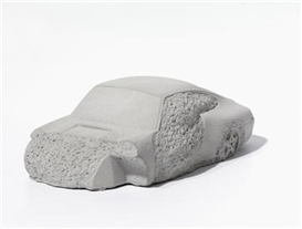 Artwork by Gottfried Bechtold, Crash Porsche, Made of concrete