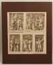 Giovanni Francesco Venturini, 5 etchings with historical and mythological scenes
