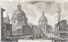 Giovanni Battista Piranesi, A view of two churches (Veduta delle due Chiese, l'una detta della Madonna di Loreto)