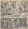 Hans Burgkmair the Elder, A Set of 9: Warfare Scenes