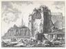 Giovanni Battista Piranesi, 2 Works: Veduta del Tempio della Fortuna Virile ; Tempi del Sole e della Luna