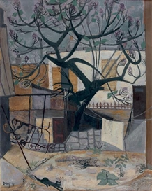 Artwork by Dany Lartigue, L'arbre noir, Made of oil on canvas