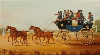 The London to Exeter stagecoach By J. Warner