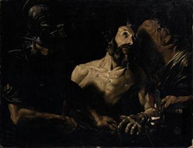 Artwork by Giovanni Lanfranco, Martirio di San Bartolomeo, Made of oil on canvas