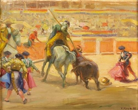 Victor Moya Calvo, Bullfighting scenes (a group of three)