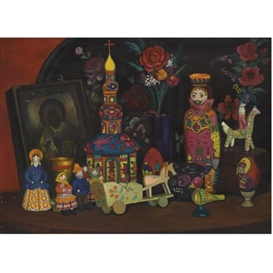 Artwork by Tatiana Nazarenko, Russian Souvenir, Made of oil on canvas