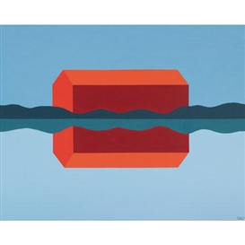 Charles Pachter, RED BARN REFLECTED
