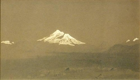 Artwork by John Henry Hill, Mt. Shasta, California, Made of Pencil and chalk on paper