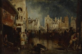 Artwork by David Octavius Hill, THE MARKET CROSS, AYR, Made of Oil on panel