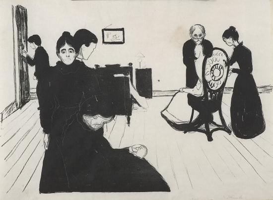 Munch Edvard | Death in the Sickroom (1896) | MutualArt