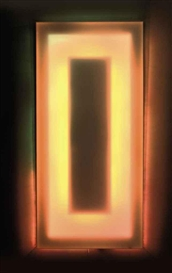 Artwork by Walter Giers, Farben Aura, Made of electric light box