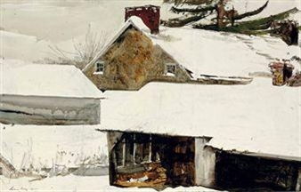 Wylie's Corner By Andrew Wyeth ,1985