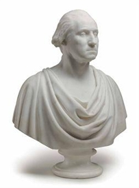 Artwork by Hiram Powers, George Washington, Made of marble