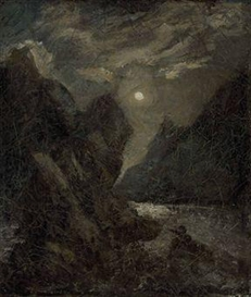Artwork by Albert Pinkham Ryder, The Lorelei, Made of oil on canvas