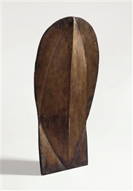 Artwork by Michael Croissant, KOPF, Made of Bronze with brownish patina