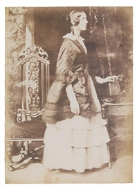 Artwork by David Octavius Hill, Lady Georgina Ryder, Made of Salt print from a paper negative