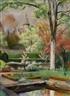 Friedrich Ahlers-Hestermann, View from a garden on a church
