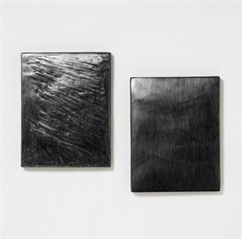 Artwork by Eva Schlegel, Untitled - diptych, Made of Mixed media on beaverboard
