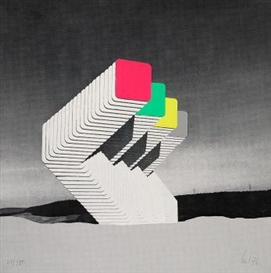 Artwork by Thomas Lenk, Untitled, Made of Colour serigraph on card
