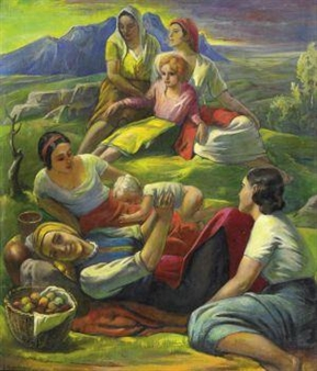Picknick in den Bergen By Ernst Dosenberger