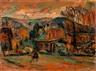Abraham Manievich, Landscape with Artist