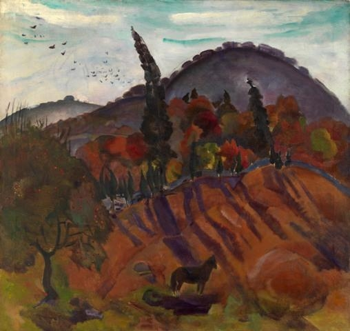 Artwork by Boris Anisfeld, Autumn, Made of Oil on canvas