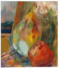 Artwork by Georg Muche, Stillleben mit Früchten, Made of Oil on canvas