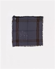 Artwork by Cosima von Bonin, UNTITLED (BLAZON OF A HASH COUNTRY), Made of Shawl with fringes made of wool and cotton with cloth application and embroidery