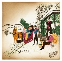 Artwork by Grandma Moses, BARTERING, Made of Painted ceramic tile