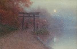 Artwork by Yoshiaki Ito, Temple Gate, Made of watercolour