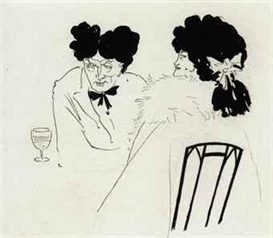 Artwork by Aubrey Beardsley, An illustration for Charles Lamb's and Douglas Jerrold's Bon Mots, 1893, Made of pencil and pen and black ink