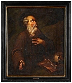 Artwork by Giovanni Lanfranco, St. Hieronimus, Made of Relined canvas