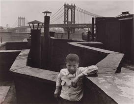 Artwork by Walter Rosenblum, Boy on Roof, Pitt Street, N.Y., 1950, Made of gelatin silver print