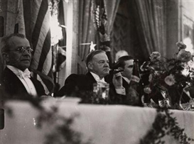 Erich Salomon, President Hoover as guest of honor at the annual dinner of the White House Correspondents' Associa