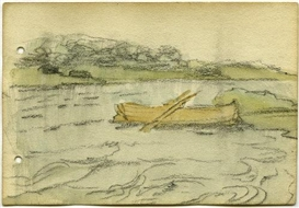 Jack B. Yeats, Boat on Coole Park Lake