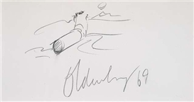 Artwork by Claes Oldenburg, Cigarette, Made of Pencil on paper, mounted between cardboards
