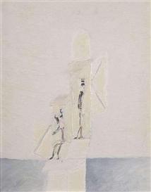 Artwork by Julius Kaesdorf, Zwei Dichter von gleicher Größe verbringen miteinander den Sonntag am See, Made of Oil on cardbaord