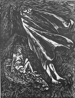 3 works: Der Harfner; Hexenreise; Mephistopheles, tanzend mit der Alten By Ernst Barlach ,1923