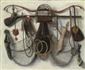 Christoffel Pierson, A trompe-l'oeil still life of hunting utensils