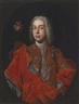 Francesco Solimena, Portrait of a nobleman, with his coat of arms at upper left