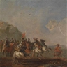 August Querfurt, 2 works: Military scenes