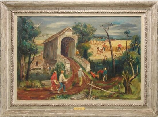 Bosa louis harvesting bucks county pa 1940 mutualart for Craft shows in bucks county pa