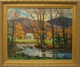 Autumn landscape By Jacob I. Greenleaf ,1962