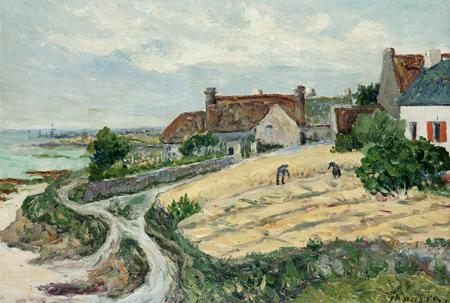 Artwork by Maxime Maufra, Ma chaumière à Kerhostin, Made of Oil on canvas